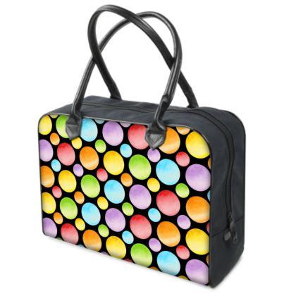 Rainbow Polka Dots Holdall