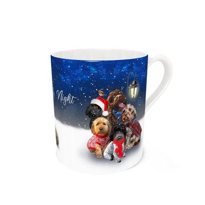 Bone china mug - oh Holy night
