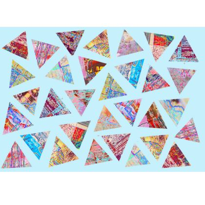 Clutch Bag with Abstract Triangle Print