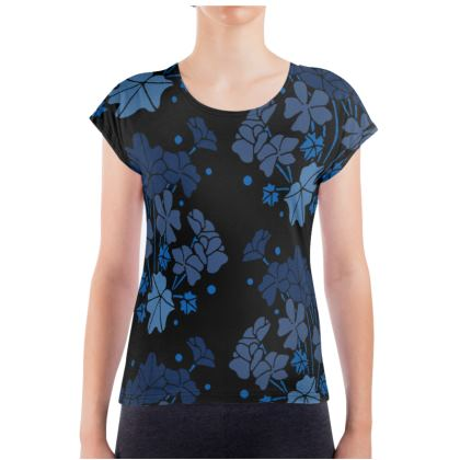 Blue Geraniums Ladies T Shirt