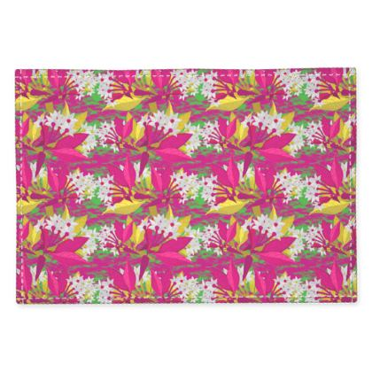 Fabric Placemats, Pink, Yellow, Christmas  Jasmine  Ruby