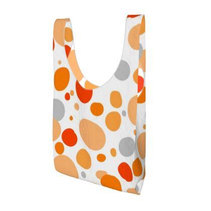 Orange Joy - Parachute Shopping Bag - abstract bright spots, cheerful, sunny summer