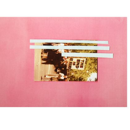 Pink Clutch Bag with Photo Artwork