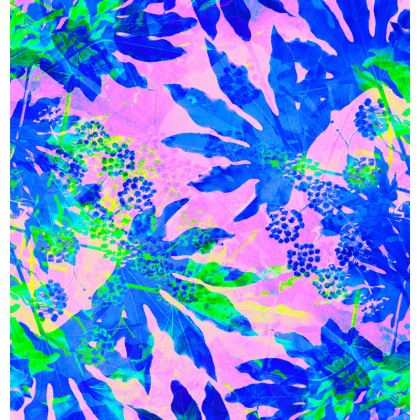 TROPICAL ADVENTURE - Neon blue pink and apple green on espadrilles