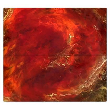 Royal Red Abstract Art Bed Sheets
