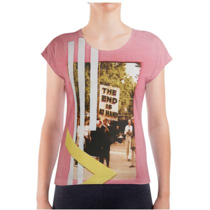 Pink Ladies T Shirt with Art Collage