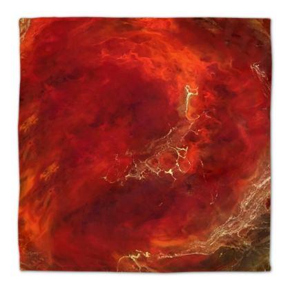 Royal Red Abstract Art Napkins