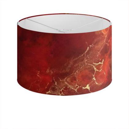 Royal Red Abstract Art Drum Lamp Shade
