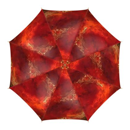 Royal Red Umbrellas