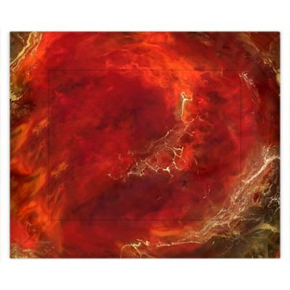Royal Red Abstract Art Duvet Covers