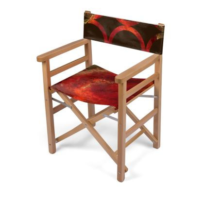 Royal Red Abstract Art Directors Chair