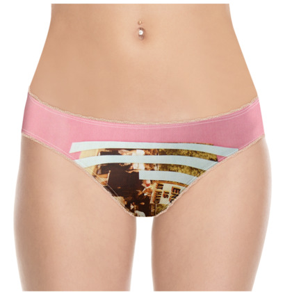 Pink Knickers with Abstract artwork