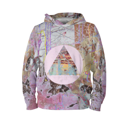 Colourful Hoodie with Pink Triangle Graphic