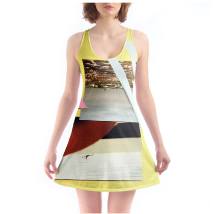 Yellow Chemise with Graphic Print