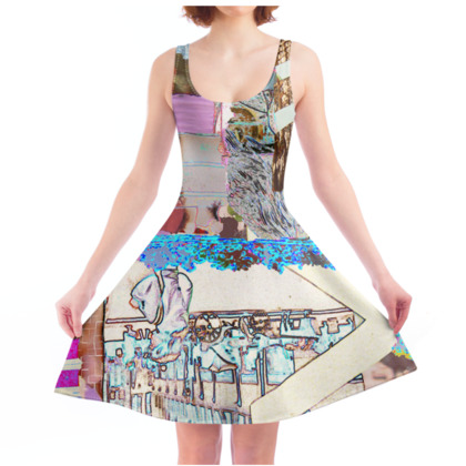 Skater Dress with Abstract Art Print