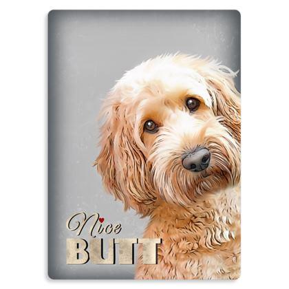 Nice butt cream dog metal print