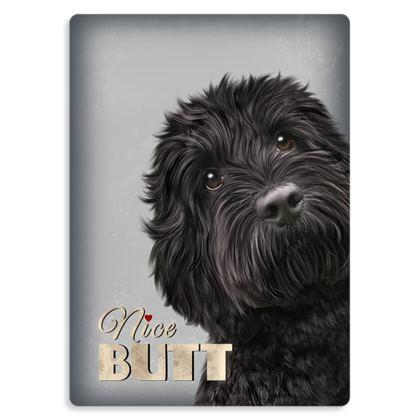 Nice butt dog metal print