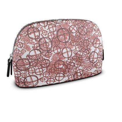 Large Premium Nappa Make Up Bag - Operator Symbol