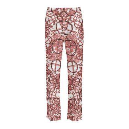Ladies Silk Pyjama Bottoms - Operator Symbol