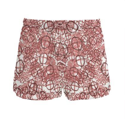 Ladies Silk Pyjama Shorts - Operator Symbol