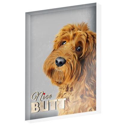 Acrylic photo block nice butt  red dog