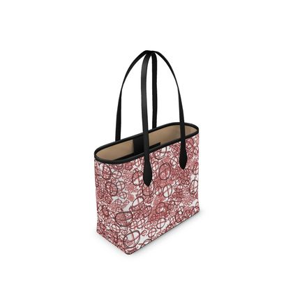 Narrow Leather Shopper Bag - Operator Symbol