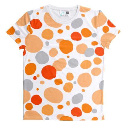 Orange Joy - T Shirt - abstract bright, cheerful gift, sunny summer