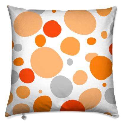 Orange Joy - Cushions - abstract bright, cheerful gift, sunny summer