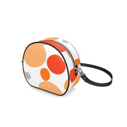 Orange Joy - Round Box Bag - abstract bright spots, cheerful, summer