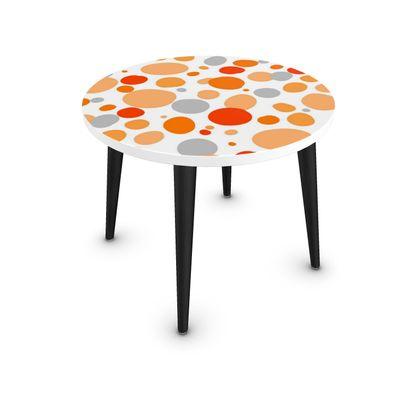 Orange Joy - Coffee Table - abstract bright spots, cheerful, sunny