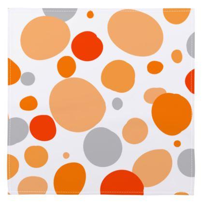 Orange Joy - Napkins - abstract bright spots, cheerful, sunny summer