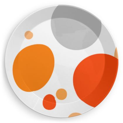 Orange Joy - Party Plates abstract bright, cheerful gift sunny summer