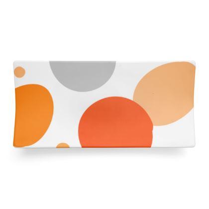 Orange Joy - Seder Dish - abstract bright spots, cheerful gift, sunny