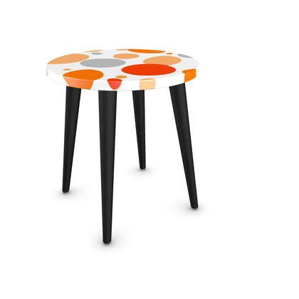 Orange Joy - Side Table - abstract bright spots, cheerful gift, sunny