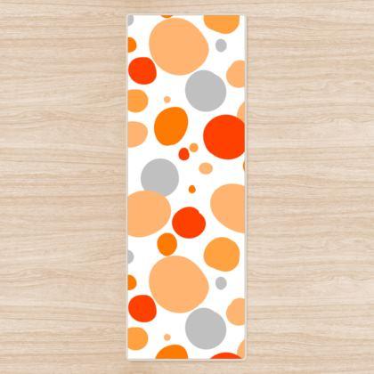 Orange Joy - Yoga Mat - abstract bright, cheerful gift, sunny summer