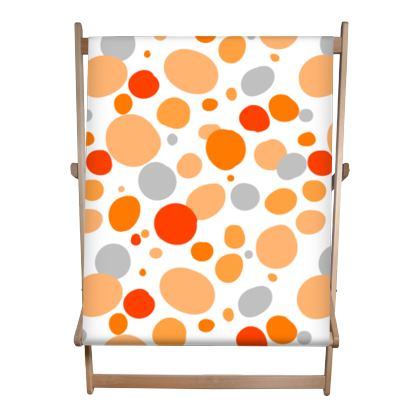 Orange - Double Deckchair- abstract bright cheerful gift sunny summer