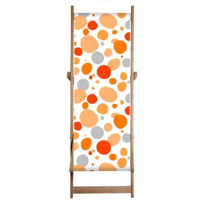 Orange Joy - Deckchair Sling - abstract bright, cheerful gift, summer