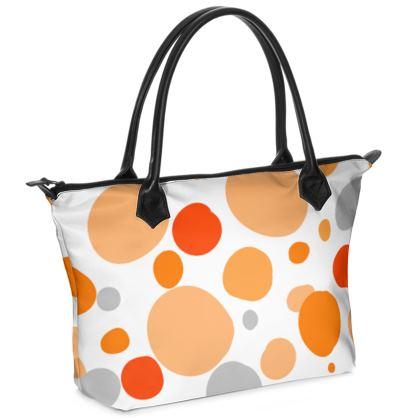 Orange Joy - Handbag - abstract bright spots, cheerful gift, summer