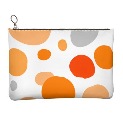 Orange Joy - Clutch Bag - abstract bright, cheerful gift, sunny summer
