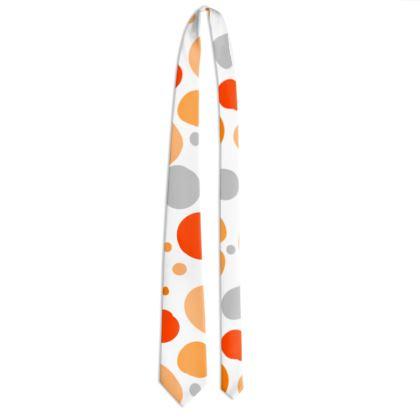Orange Joy - Tie - abstract bright spots, cheerful gift, sunny summer