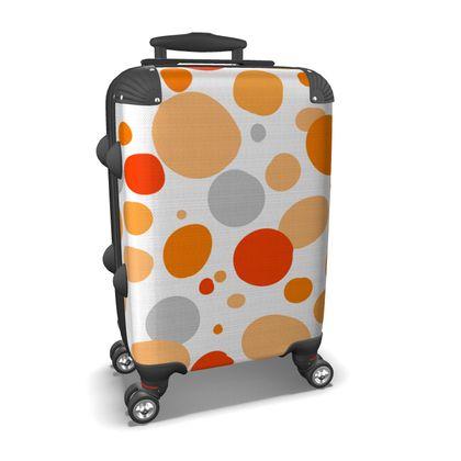 Orange Joy - Suitcase - abstract bright, cheerful gift, sunny summer