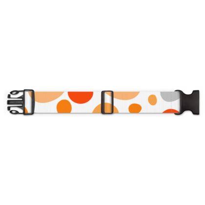 Orange Joy - Luggage Strap - abstract bright spots, cheerful, sunny