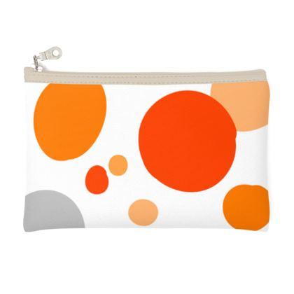 Orange Joy - Pencil Case - abstract bright spots, cheerful gift, sunny