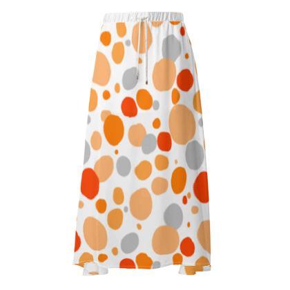 Orange Joy - Skirt - abstract bright spots cheerful gift sunny summer