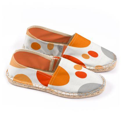 Orange Joy - Espadrilles abstract bright, cheerful gift, sunny summer
