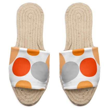 Orange Joy - Sandal - abstract bright, cheerful, sunny summer gift
