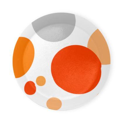 Orange Joy - Coaster Trays abstract bright cheerful gift sunny summer