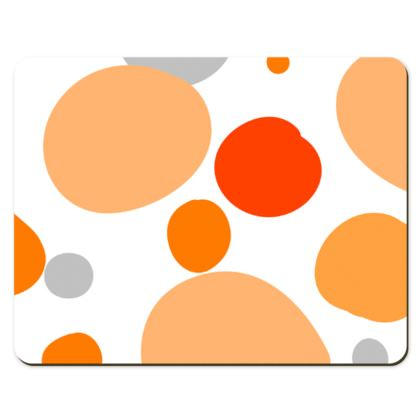 Orange Joy - Placemats - abstract bright spots, cheerful gift, summer