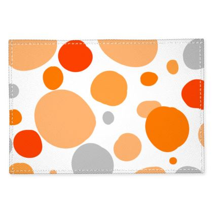 Orange Joy - Fabric Placemats - abstract bright, cheerful gift, summer