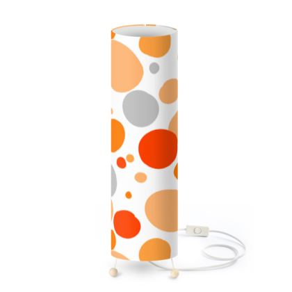 Orange Joy - Standing Lamp - abstract bright spots cheerful gift sunny